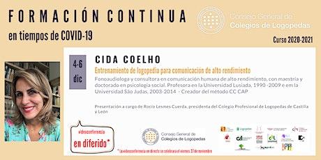 En diferido: Videoconferencia a cargo de Cida Coelho entradas