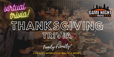 Virtual Thanksgiving Trivia Night - Family Friendly tickets