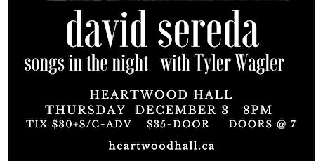 david sereda in concert with Tyler Wagler tickets