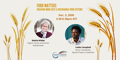 Food Matters: Creating More Just and Sustainable Food Systems tickets