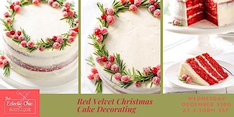 Red Velvet Christmas Cake Decorating Virtual Workshop tickets