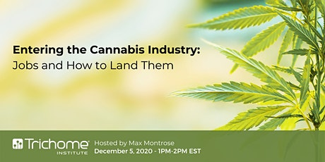 FREE - Entering the Cannabis Industry: Jobs and How to Land Them tickets
