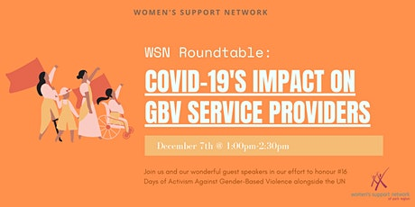 Covid-19's Impact on GBV Service Providers: ROUNDTABLE EVENT tickets