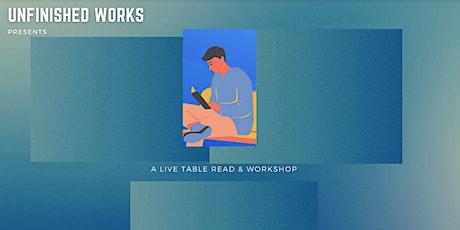 Unfinished Works Screenplay Reading & Workshop: Melissa Kong & Tarun Shetty tickets