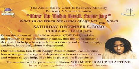AOSCC Grief and Recovery Seminar tickets