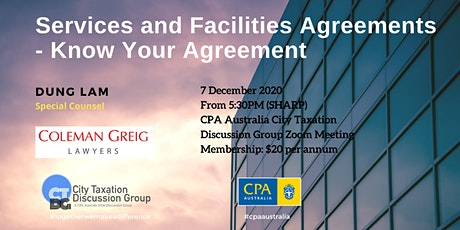 CTDG December Event - Services and Facilities Agreements tickets