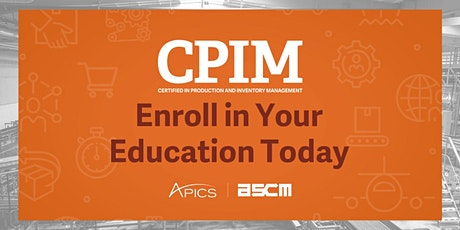 APICS CPIM 1 Certification Prep Course - Certified Production Inventory Mgt tickets