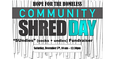 "Hope For The Homeless - ""SUndies"" (socks and undies) Fundraiser tickets"