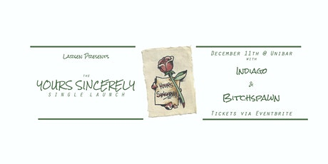 Larsen 'Yours Sincerely' Single Launch tickets