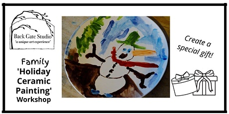 FAMILY 'Holiday Ceramic Painting': Mugs and Plates tickets