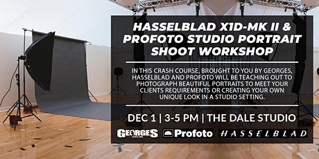 Hasselblad X1D MK II & Profoto Studio Portrait Shoot Workshop tickets