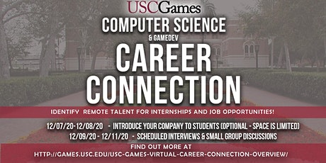 USC Games Career Connection - Online Computer Science/Gaming Job Fair tickets