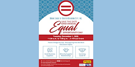 Urban League of Greater Oklahoma City 42nd Annual Equal Opportunity Day tickets