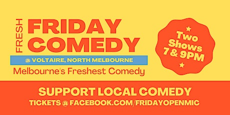 FRIDAY STAND UP COMEDY @ Voltaire tickets