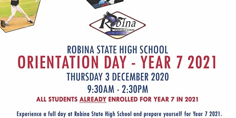 RSHS Orientation Day - Year 7 2021 tickets