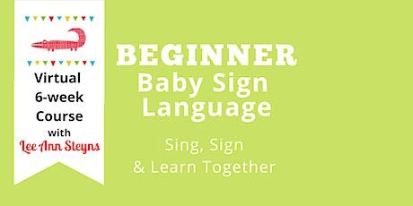 Beginner Baby Sign Language Virtual Course on Facebook -Jan. 2021