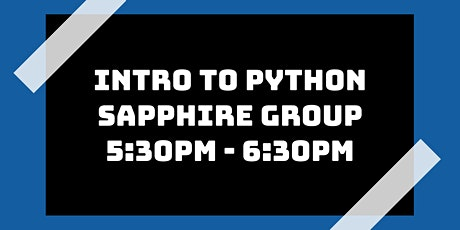 Intro to Python Class: Sapphire Group tickets