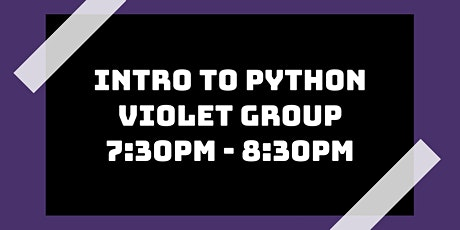 Intro to Python Class: Violet Group tickets