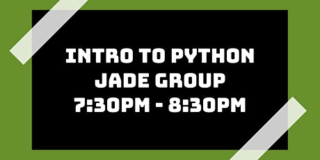 Intro to Python Class: Jade Group tickets