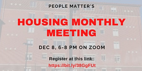 Housing Monthly Meeting tickets
