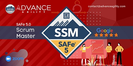 SAFe Scrum Master(Zoom) 15th/16th May 2021 (Weekend) (California-PST) tickets