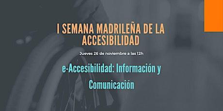 Mesa redonda «e-Accesibilidad: Información y Comunicación» entradas