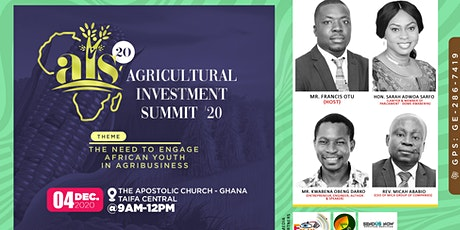 AGRICULTURAL INVESTMENT SUMMIT 2020 tickets