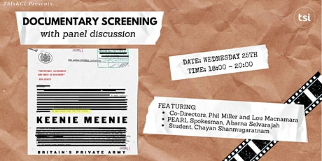TSIxKCL: Keenie Meenie Screening and Panel Discussion tickets