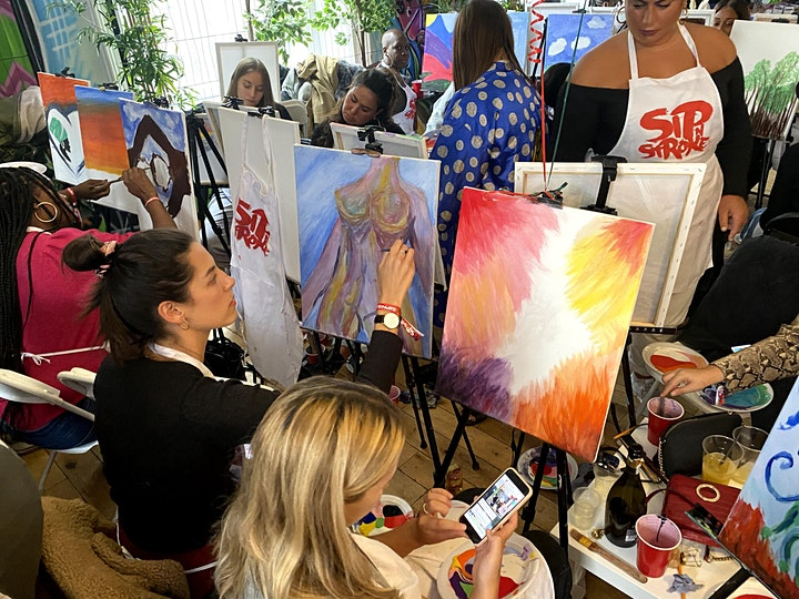 Sip N Stroke TV | Virtual Sip and Paint Party + Afterparty image