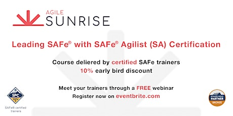 Leading SAFe® with SAFe® Agilist (SA) Certification tickets