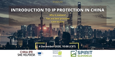 Introduction to IP Protection in China tickets