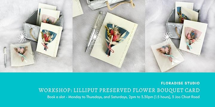 Workshop: Lilliput preserved flower bouquet card image