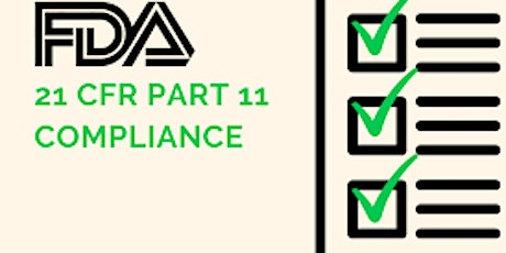 Recording Corporate: ENSURING DATA INTEGRITY AND 21 CFR PART 11 COMPLIANCE tickets