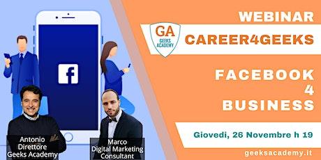 Career4Geeks - Facebook 4 Business biglietti