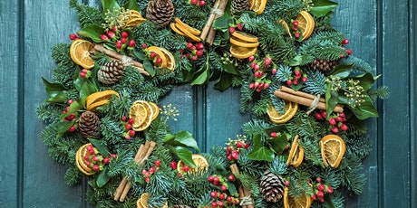 Online Christmas wreath making kit with Prosecco! tickets