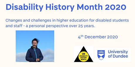 Changes and challenges in higher education for disabled students and staff tickets