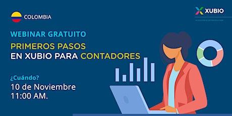 Webinar Col: Primeros pasos en Xubio -  Contadores entradas