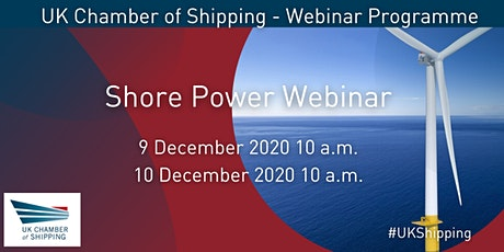 9 & 10 December 2020 | Shore Power Webinar tickets