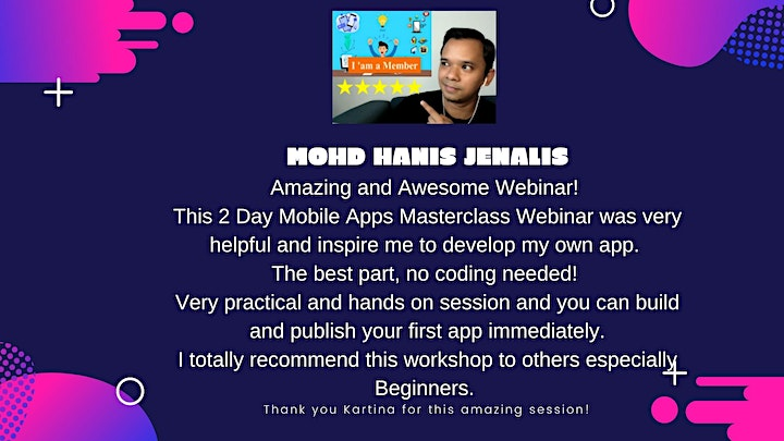 2 Days Create Mobile Apps Without Coding Webinar image
