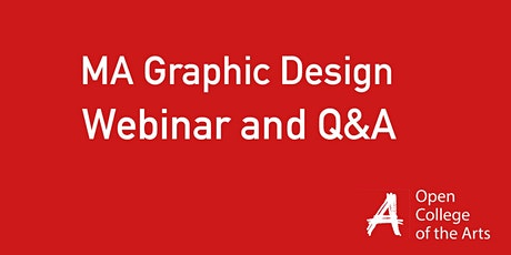 MA Graphic Design Webinar with Q&A session tickets