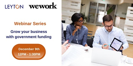 Grow your business with Government Funding tickets