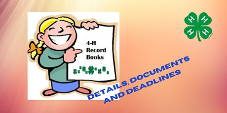 4-H Project Books-All You Need to Know tickets