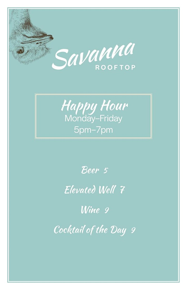 """ALL FRIDAYS: 2021 DATES - VIP HEATED """"SKY SUITES""""  @ SAVANNA ROOFTOP image"""