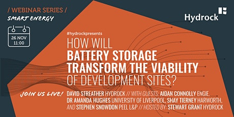 How will battery storage change the viability of development sites? tickets