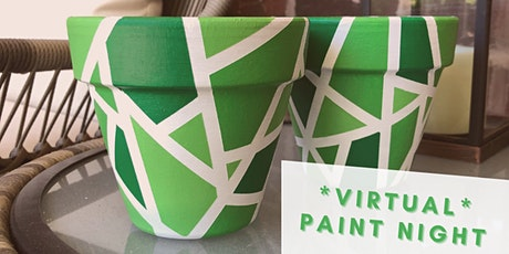 Virtual Paint Night: Green Mosaic Planter tickets