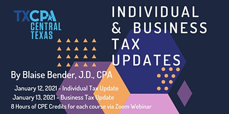 Individual and Business Tax Update by Blaise Bender, CPA tickets
