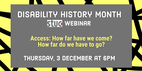 STUC Disabled Workers Webinar for Disability History Month tickets