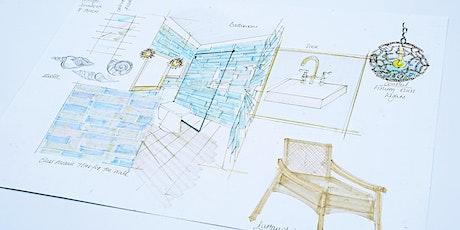Sketching Concept Design Board for Coastal Bathrooms (ONLINE WORKSHOP) tickets