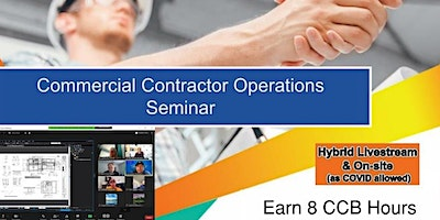 2 Day – Virtual: Commercial Contractor Operations Seminar