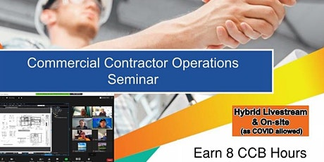 2 Day - Virtual: Commercial Contractor Operations Seminar tickets